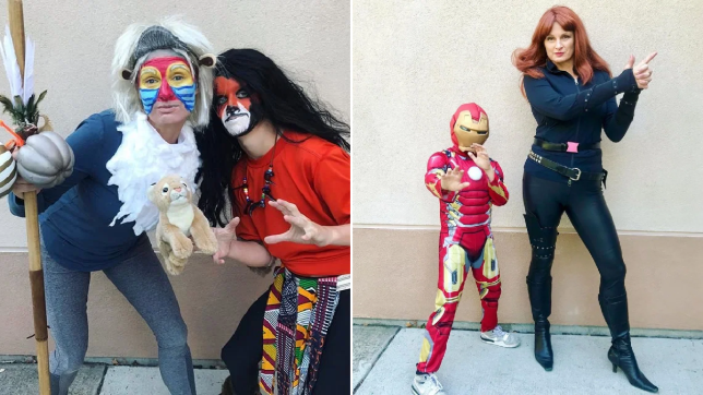 Mum dresses up in a different Halloween costume every day to pick kids up from school