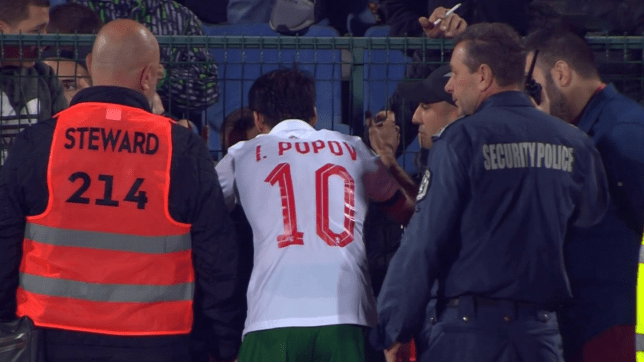 Marcus Rashford praises Bulgaria captain Ivelin Popov over his 'courageous' act at half-time