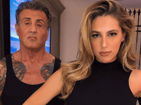 Sylvester Stallone shows off pretty impressive guns as 73-year-old trolls daughter and takes it back to OG Rambo days