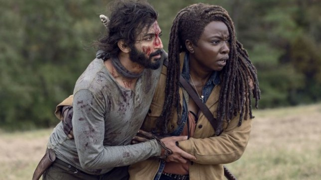 The Walking Dead Siddiq and Michonne