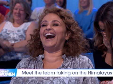 Nadia Sawalha makes epic on-air gaffe as she hilariously declares there's 'humping spiders' in the Himalayas