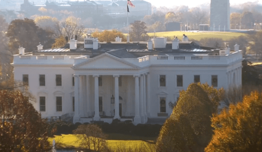 Photo of the White House during Tuesday morning's lockdown