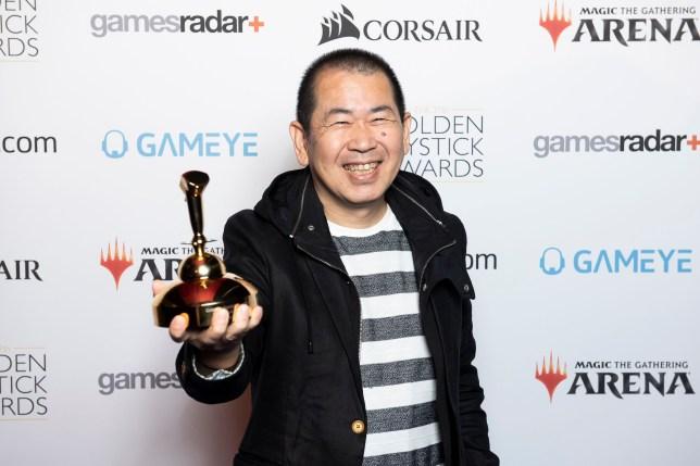 Yu Suzuki at the Golden Joysticks 2019