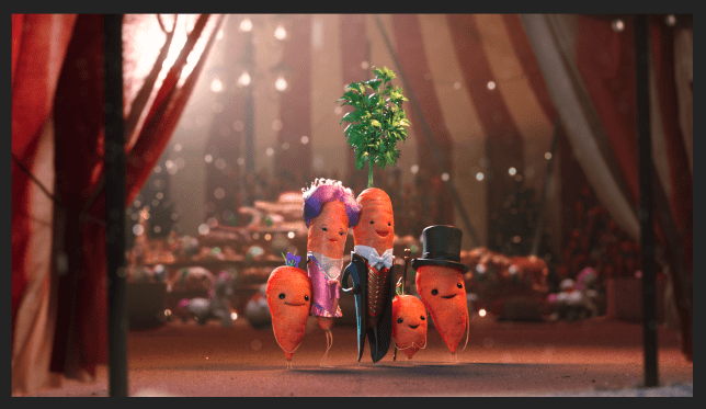 An image of the Kevin The Carrot 2019 Aldi Christmas advert