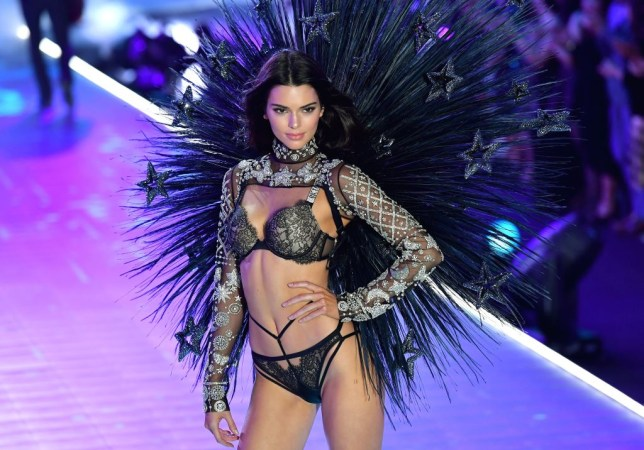 kendall jenner at the 2018 victoria's secret fashion show