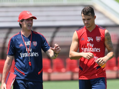 Granit Xhaka was frustrated with Unai Emery over how long he took to award Arsenal captaincy