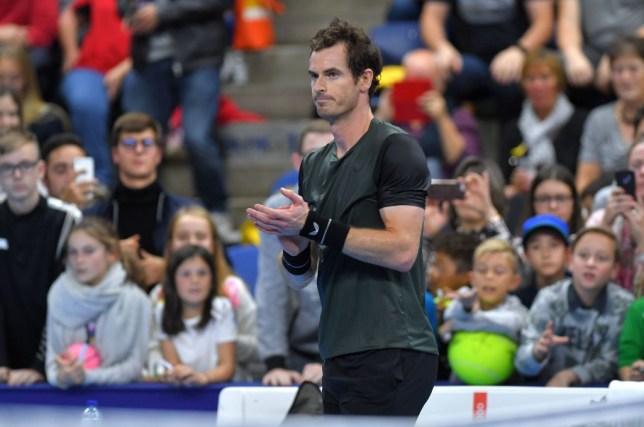 Andy Murray applauds after a match