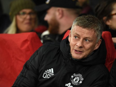 Man Utd manager Ole Gunnar Solskjaer reacts to Jose Mourinho's appointment at Tottenham
