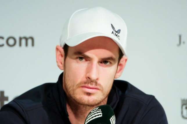 Great Britain's Andy Murray looks on during a Davis Cup press conference