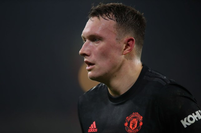 Phil Jones looks on during Manchester United's draw against Sheffield United