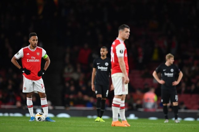 Arsenal produced a woeful display as they were beaten at home to Eintracht Frankfurt