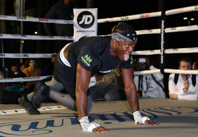 KSI holds an open workout for fans ahead of his boxing rematch with Logan Paul