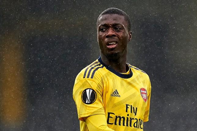 Nicolas Pepe played 90 minutes against Vitoria in midweek as Arsenal drew 1-1