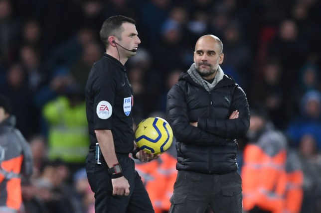 Manchester City make official complaint over referee Michael Oliver's performance in Liverpool game