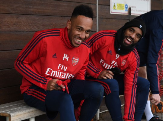 Image result for lacazette aubameyang