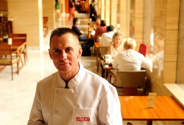 Gary Rhodes in chef's uniform
