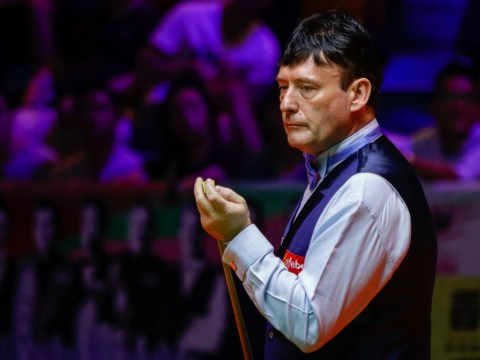 Jimmy White throws his cue to the ground as he tosses away golden chance to beat Ronnie O'Sullivan