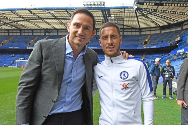 Frank Lampard and Eden Hazard at Chelsea
