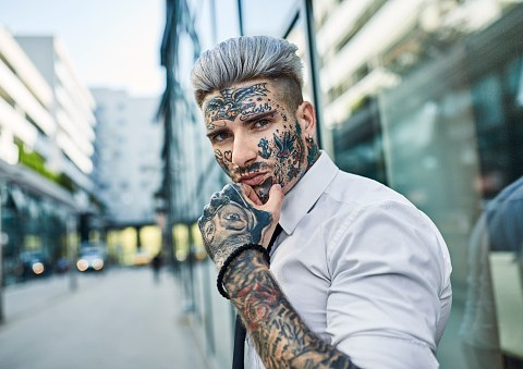 Face tattoos 'should be banned for people under 21'