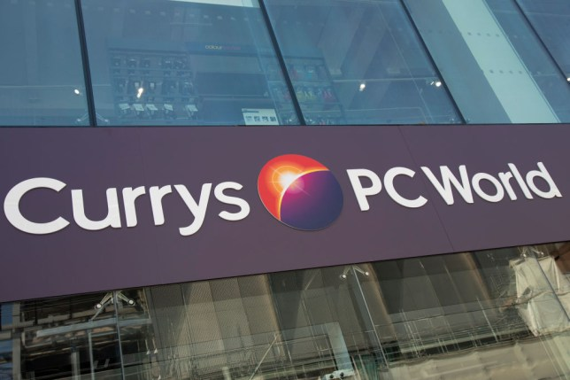 Sign For Electronics Brand Currys PC World