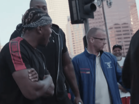 Shannon Briggs clashes with KSI again and threatens to beat him up on the sidewalk