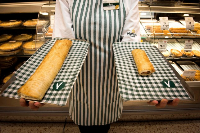 Morrisons launches footlong vegan sausage roll