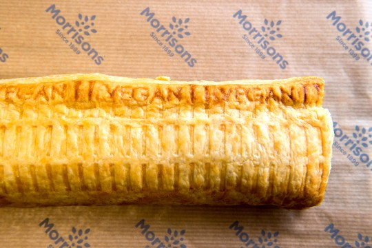 Morrisons vegan sausage roll