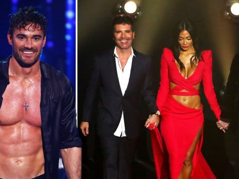 X Factor: Celebrity's Simon Cowell and Louis Walsh put Nicole Scherzinger on the spot as they 'confirm' romance with Try Star's Thom Evans
