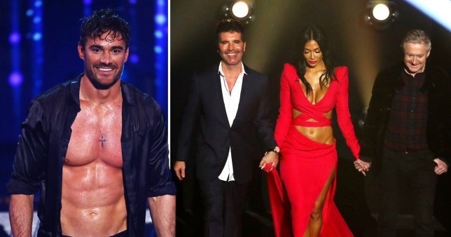 Thom Evans and The X Factor judges