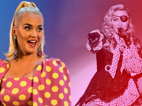 Katy Perry kisses Madonna's ring before making STD joke at Madame X concert