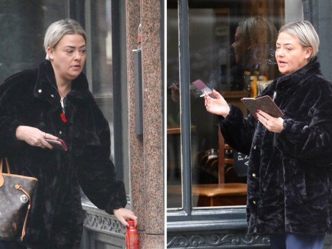 Strictly's Lisa Armstrong seeks energy hit with Lucozade as she's spotted on break