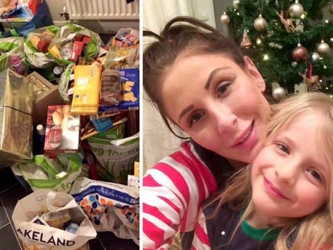 Mum sets up food bank in her own home