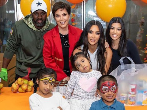Kris Jenner 'grateful' as she joins Kim and Kourtney Kardashian in dishing up meals at food bank