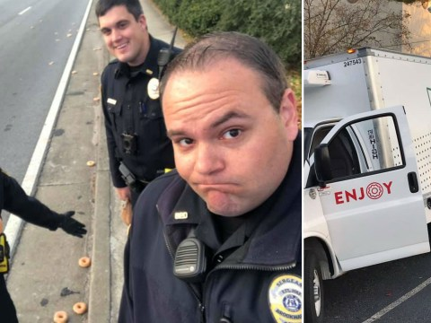 Police ask for 'thoughts and prayers' as Krispy Kreme doughnuts fall in road