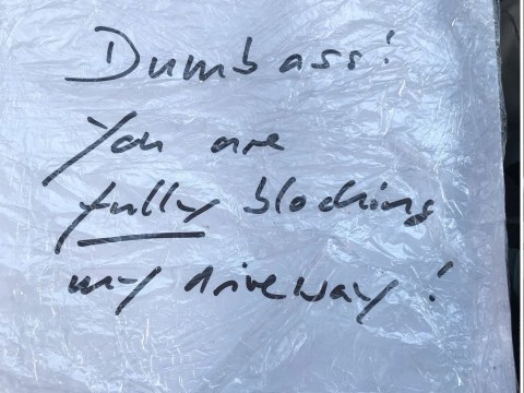 Paramedic finds note calling them a 'dumbass' for parking on their drive