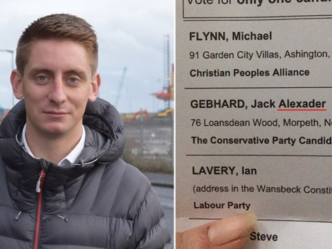 Tory candidate spelled his own name wrong on ballot papers