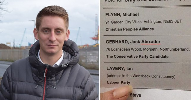 Conservative candidate for Wansbeck, Northumberland says he doesn't know how his name was spelt incorrectly on his nomination papers for the 2019 General Election