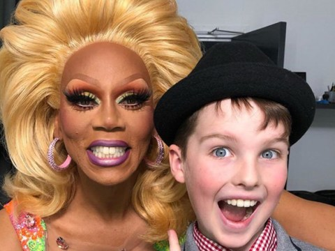 RuPaul and Young Sheldon hang out at Drag Race UK in world's most unexpected crossover