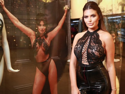 Megan Barton Hanson slays underwear as outerwear as she poses with own Ann Summers posters