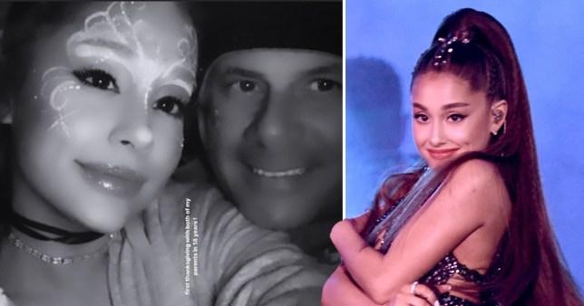 Ariana Grande and her parents, Joan Grande and Edward Butera