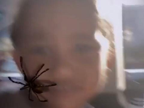 Kim Kardashian plays cruel prank on son Saint as she terrifies him with spider filter
