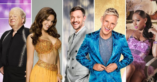 Comp of celebrities who have previously left Strictly Come Dancing