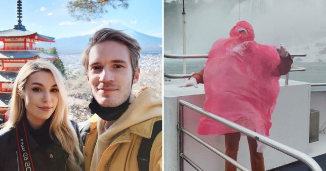 PewDiePie and Marzia Kjellberg blown away by Niagara Falls as they enjoy unconventional Halloween