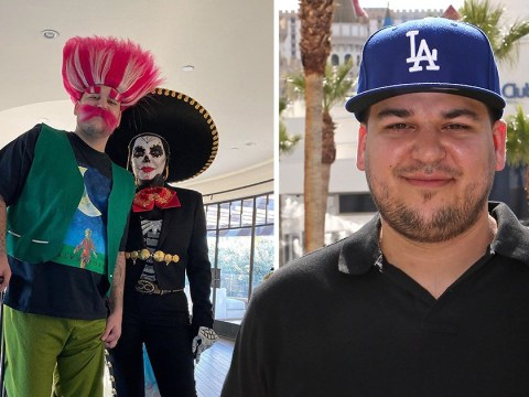 Rob Kardashian makes rare Instagram appearance in Halloween snap