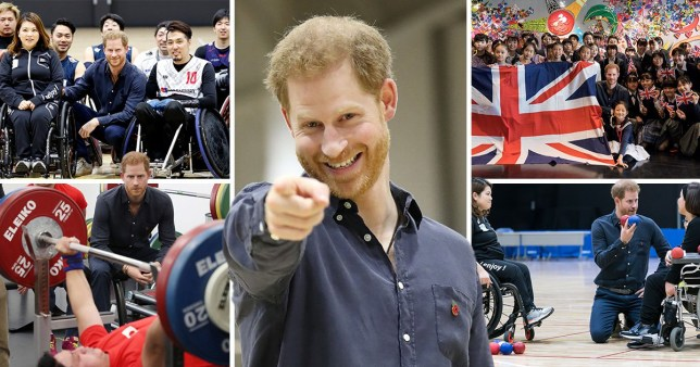 Prince Harry visits Paralympian hopefuls in Japan ahead of 2019 Rugby World Cup final