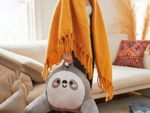 You're gonna need this vibrating sloth pillow to survive the winter