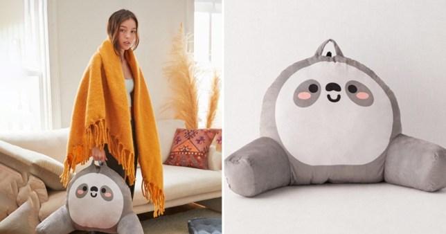 The vibrating sloth pillow