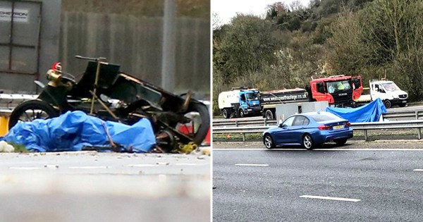 The crash happened at around 10am on the M23