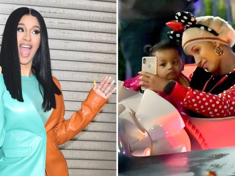 Cardi B is fresh-faced as she goes make-up free to Disneyland with daughter Kulture