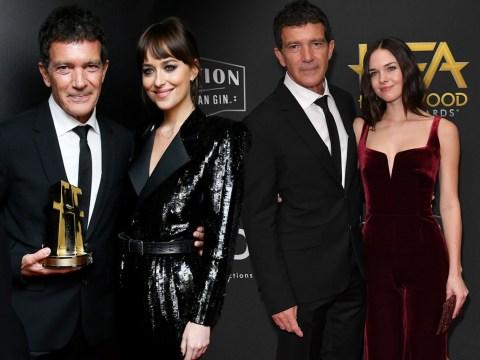 Dakota Johnson joins 'Papi' Antonio Banderas in red carpet family reunion